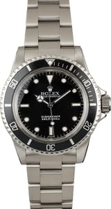 Vintage 1966 Rolex Submariner 5513 Black Luminous Dial