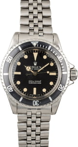 Vintage 1967 Rolex Submariner 5513 Kissing Four Bezel