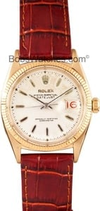 Men's Vintage Rolex DateJust 18kt Gold 6605