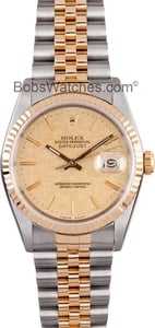 Datejust Rolex 16233 Two Tone