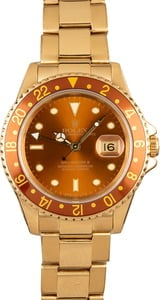 Pre Owned Men's Rolex GMT-Master 18k Gold 16718