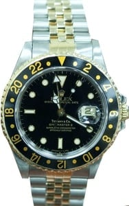 Used Rolex GMT Master II Stainless Steel and Gold Mens 16713 - Tiffany Dial