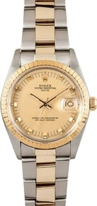 Men's Pre Owned Rolex Date Stainless and Gold 15053