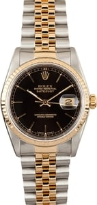 Used Rolex DateJust 16233 Black Index