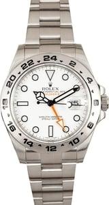 White Rolex Explorer II 216570