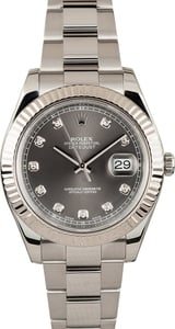 41MM Rolex Datejust II Diamond Dial 116334