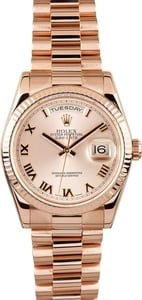 Rolex Presidential 18K Rose Gold