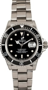 Mens Rolex Submariner Black 16800