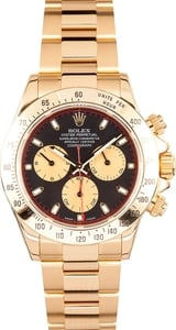 Rolex Daytona 18K Yellow Gold 116528 Black