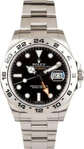 107255 Rolex Explorer II 216570 Black Dial x
