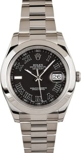 PreOwned Men's Rolex Datejust 116300 Black Roman