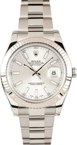 Rolex 41MM Datejust II 116334 Silver
