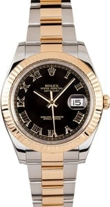 Men's Rolex Datejust 116333 Black Roman Dial