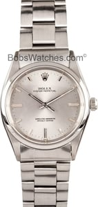 Pre Owned Rolex Oyster Stainless Steel With Silver Dial 1018