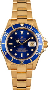 18K Yellow Gold Submariner 16618