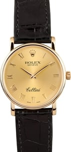 Rolex Men's Cellini 18K Yellow Gold 5115