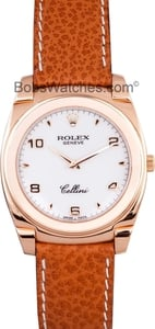 Rolex Cellini Men's 18K Rose Gold Watch 5330