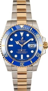 Rolex Two Tone Ceramic Submariner 116613