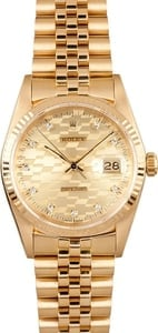 Men's Rolex DateJust Gold 16018