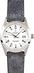 Men's Rolex Date Stainless Steel With White Dial 15200, Pre Owned