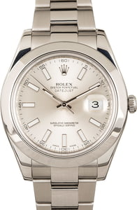 Rolex Datejust Silver 41MM 116300 Stainless