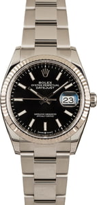 Pre-Owned Rolex Datejust 126234 Black Dial
