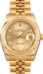 Rolex 18k Gold Datejust 116238
