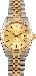 PreOwned Rolex Datejust 16013 Champagne Tritium Dial