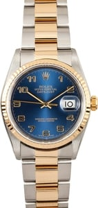 Rolex Datejust 16233 Blue Dial