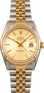 Two-Tone Rolex Datejust 16233 Champagne
