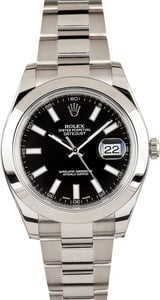 Rolex Datejust 116300 w/ Black Dial 100% Genuine