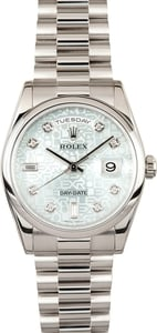 Rolex Platinum Day Date 118206