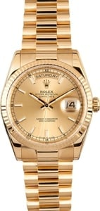 115621 Rolex Presidential 118238 18K w/ Luminous Hour Markers