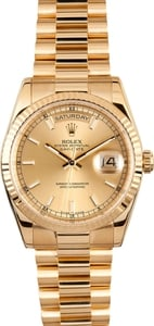 Rolex Presidential 118238 18K w/ Luminous Hour Markers