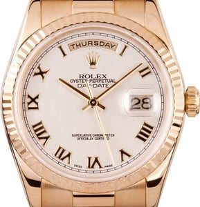 Rolex 18k Presidential Gold Day-Date 118238
