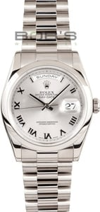 Rolex Presidential 118209 White Gold