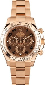 Rolex Daytona Rose Gold 116505 Chocolate Dial