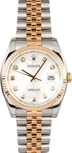 Rolex DateJust 116233 Jubilee Diamond Dial