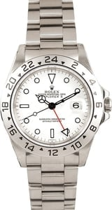 Used Rolex Explorer II Men's Stainless Steel Watch 16570
