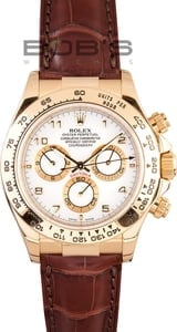 Rolex Daytona 18K Yellow Gold Leather