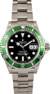 Pre-Owned Rolex Submariner 16610V Kermit Watch