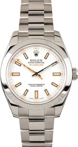 White Rolex Milgauss 116400