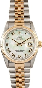 Used Men's Rolex Oyster Perpetual DateJust MOP Dial