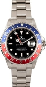 Pre Owned Men's Rolex GMT-Master II Pepsi Bezel Model 16710