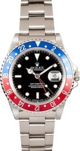 Men's Rolex GMT-Master II 16710 - Pepsi Bezel Holes Case