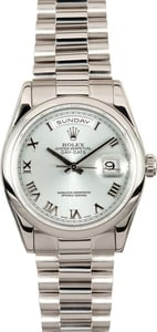 Platinum Rolex Day Date 118206 36mm