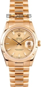 Used Rolex President Gold Day-Date 118348 Mens