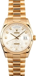 Pre-Owned Rolex Presidential Diamond Jubilee 118238