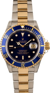 Two Tone Rolex Submariner Blue