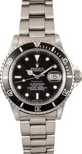 Black Rolex Submariner 16800 Mens